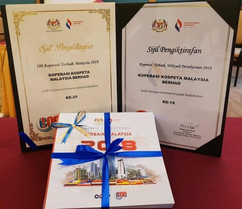 KOSPETA Koperasi Terbaik Malaysia