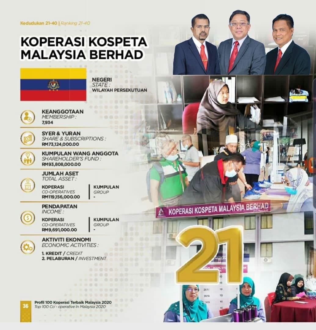 KOSPETA 100 Koperasi Terbaik Malaysia